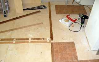 Укладка плитки на фанеру на пол: пошаговая инструкция