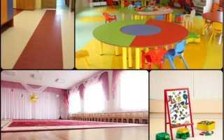 Линолеум для детского сада — требования нормативных документов, дизайнерские решения