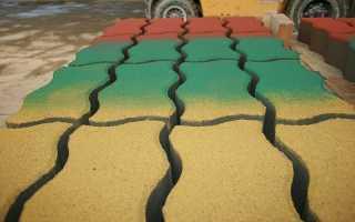 Чем и как покрасить тротуарную плитку своими руками