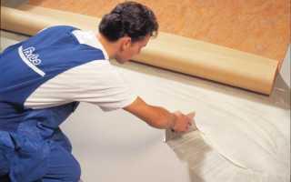 Чем приклеить линолеум к бетонному полу и нужно ли это делать