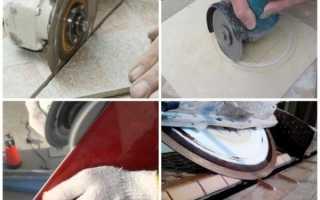 Как резать плитку болгаркой без сколов, каким диском
