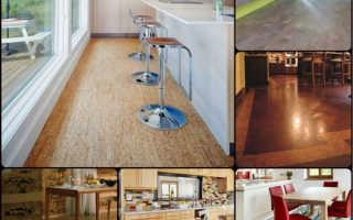 Пробковый пол на кухне — выбор и уклдака покрытия