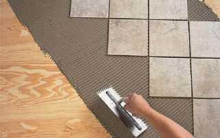Как положить плитку на деревянный пол: возможные варианты