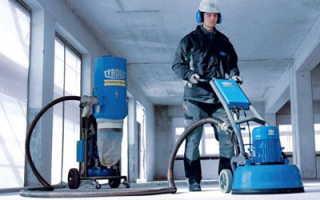 Как производится шлифовка бетонного пола: технология выполнения работ