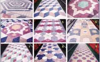 Тротуарная плитка ромб: варианты укладки + фото