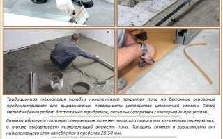 Как и чем приклеить линолеум к бетонному полу: технология работ