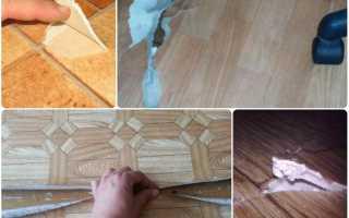 Ремонт линолеума или как заклеить линолеум в домашних условиях — делимся опытом