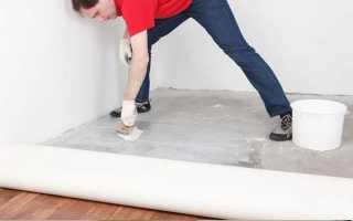 Укладка линолеума на бетонный пол своими руками: пошаговая инструкция