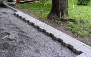 Укладка тротуарной плитки на отсев своими руками