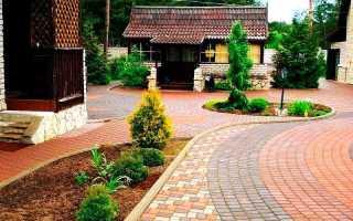 Технология укладки тротуарной плитки во дворе частного дома