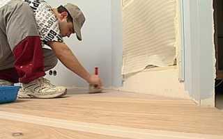 Укладка линолеума на деревянный пол: как уложить линолеум на фанеру?