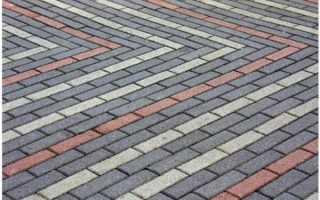 Варианты укладки тротуарной плитки кирпич — популярные схемы
