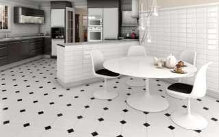 Отделка пола на кухне плиткой: 25 решений на фото
