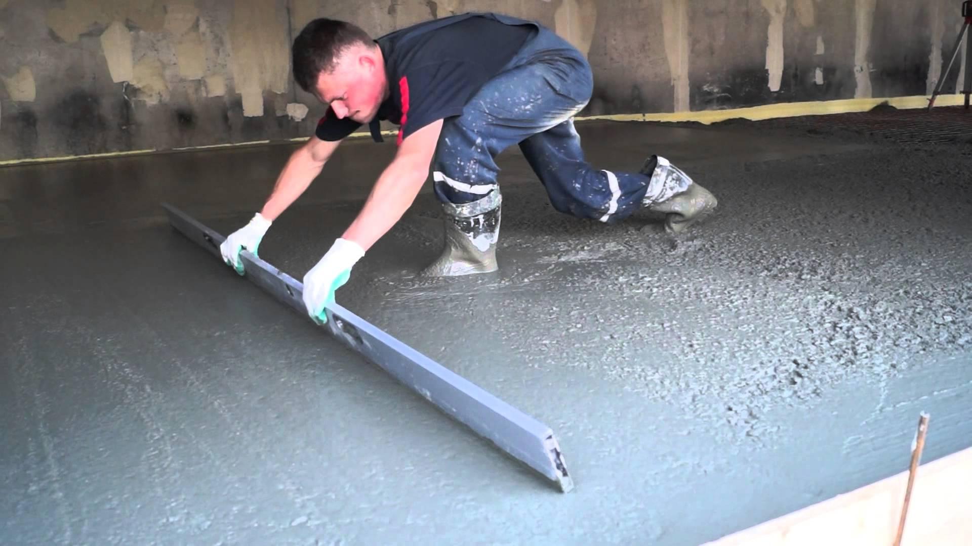 11. zalivka pola betonom