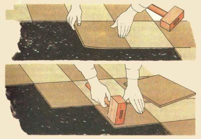 Припрессовка пвх плитки при укладке
