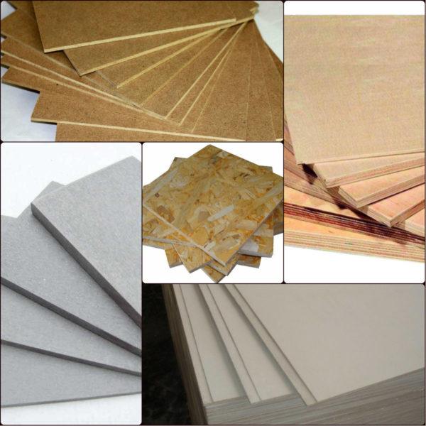 Разновидности листовых материалов