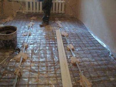 Армирование - важный этап устройства бетонной стяжки
