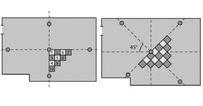 Обычный и диагональный способы раскладки покрытия Арт Винил