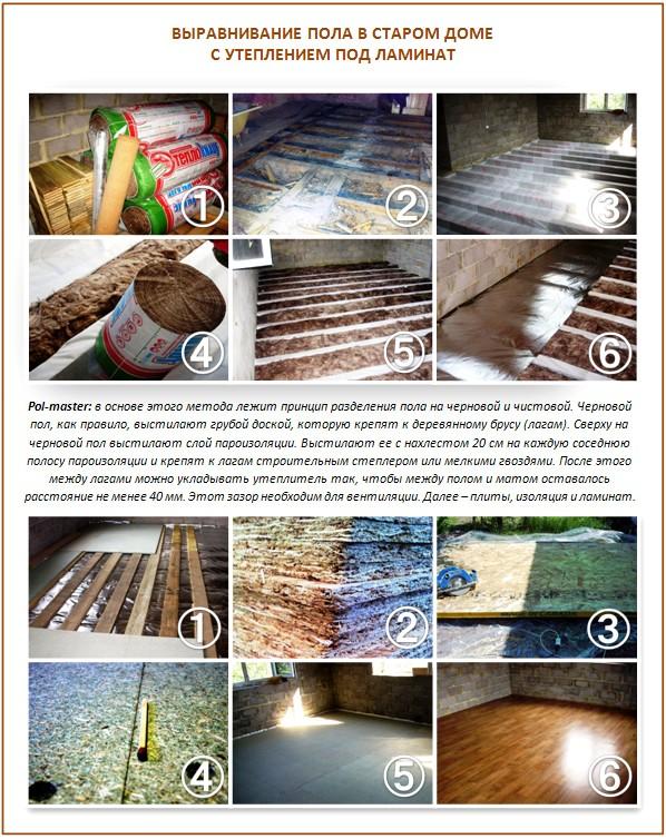 Выравнивание и утепление старого деревянного пола