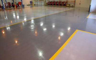 Правильная покраска бетонного пола
