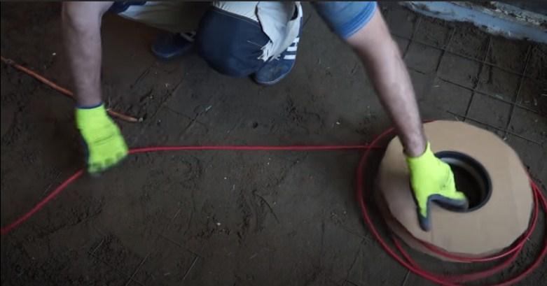 Сооружение контуров теплого пола из кабеля СИП