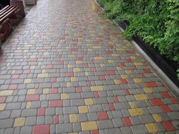 Добавление цветной плитки Старый город
