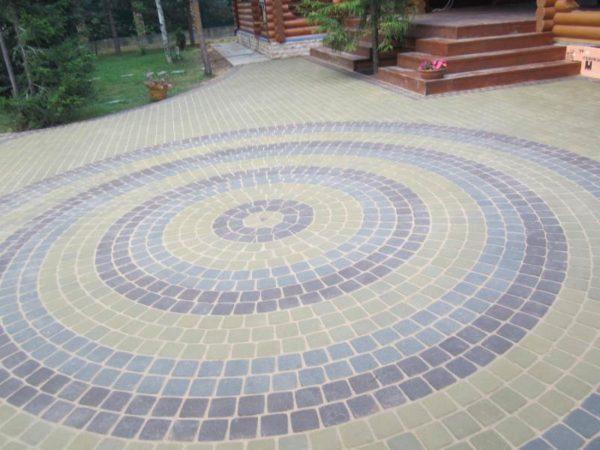 Тротуарная плитка по кругу