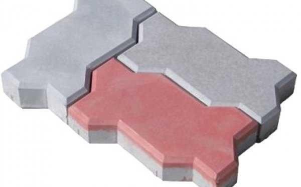 Двухслойная цветная плитка