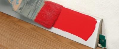 Покраска плинтуса МДФ