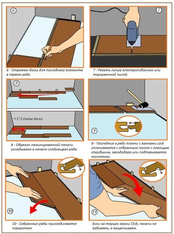 Как положить ламинированные доски