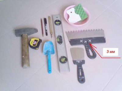 Укладка кафеля своими руками - набор инструментов