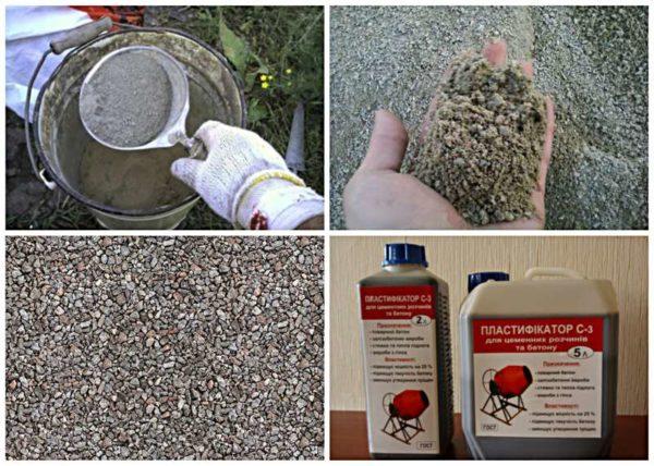 Компоненты бетона для тротуарной плитки