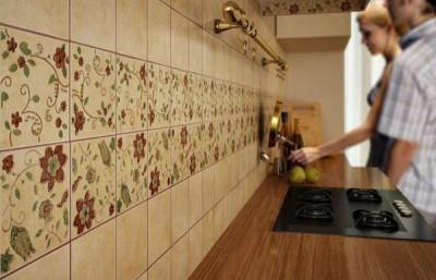Какая плитка лучше для кухни - рабочая зона