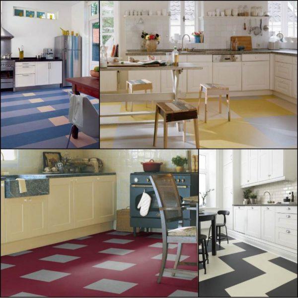 Мармолеум в интерьере кухни