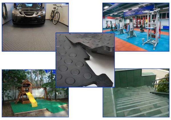 Модульная плитка для гаражей