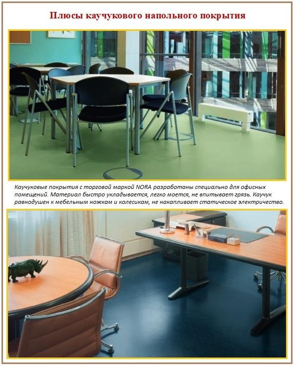 Каучуковый пол в офисе - стильно и практично