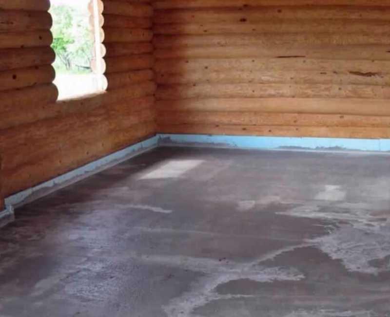 Наливной пол на деревянное основание