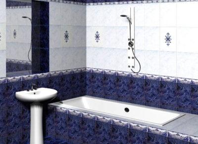 Классический стиль в ванной комате