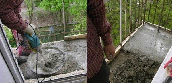 Подъем уровня пола на балконе