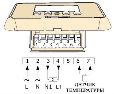 Общая схема подключения термостата