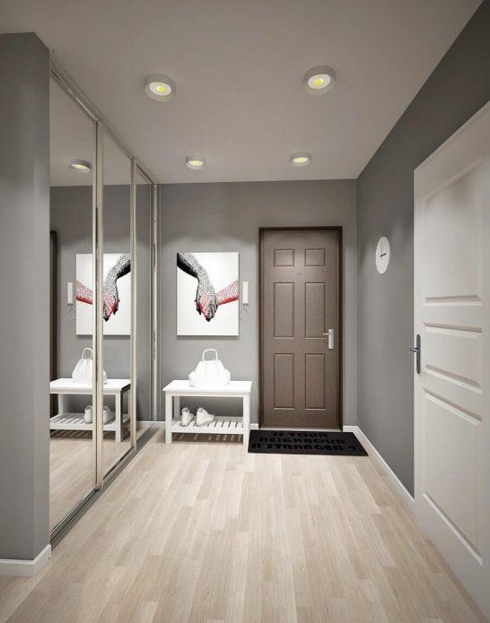 Белый ламинат в коридоре