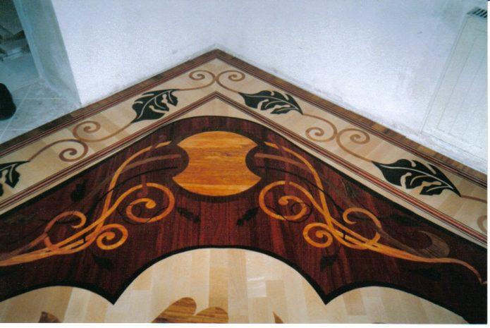 Художественный ламинат с составным рисунком