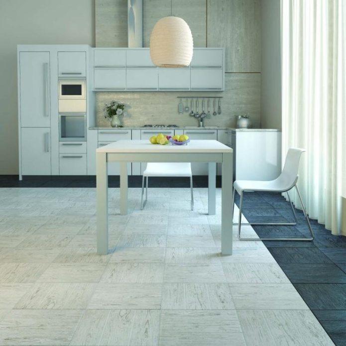 напольная плитка в интерьере кухни