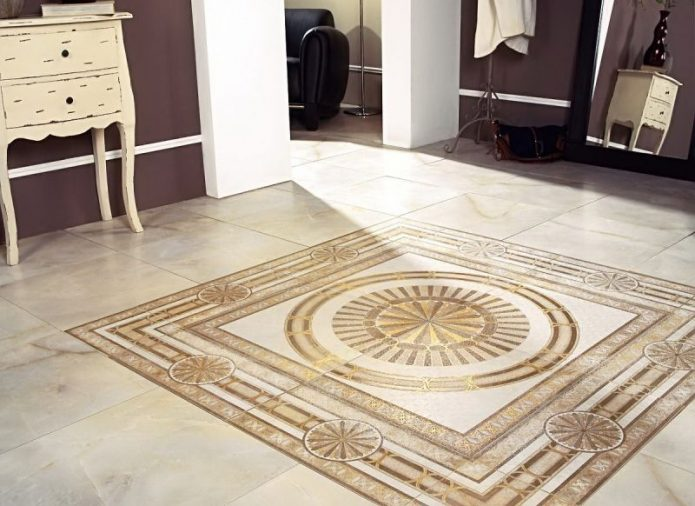 Напольная плитка с орнаментом
