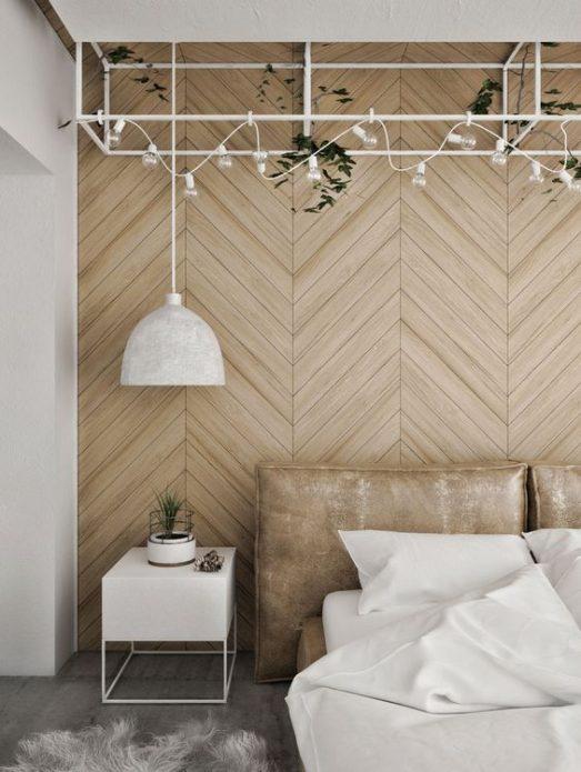 Декорирование ламинатом стен