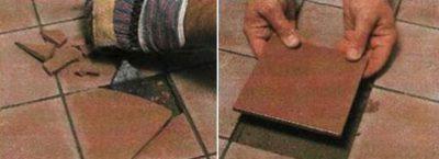 Ремонт пола из керамической плитки