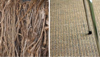 Сизалевое полотно плетут из волокон мексиканского растения агавы