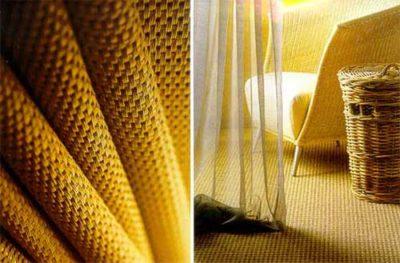 Рулоны сизалевого полотна укладываются на пол примерно так же, как и ковролин