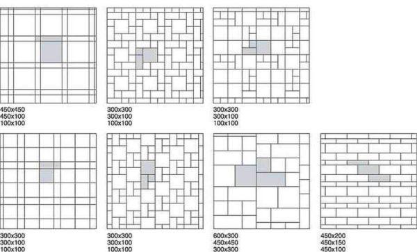 Схемы выкладки плитки от центра