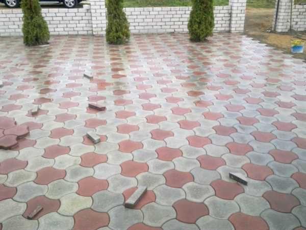 Тротуарная плитка - чешуя